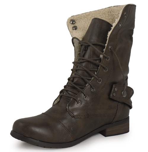 brown ankle army combat boots sizes 3 8 ebay